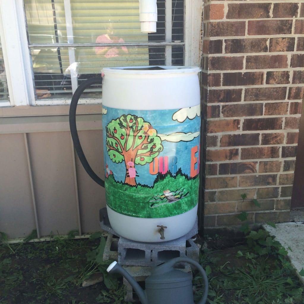 Lewisdale Elementary Rain Barrel Wraps